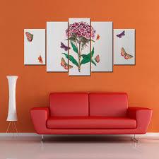 Giftscorner Wood Purple Bouquet <b>5 Piece</b> Canvas Wallart - <b>Hd</b>, Size ...