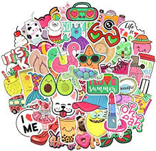 Waterproof Cute Vinyl Stickers Pack for Water Bottle ... - Amazon.com