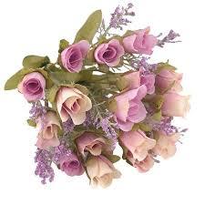 20 Heads <b>1Pc</b> Artificial Rose Flower Bouquet Home Decor <b>Wedding</b> ...
