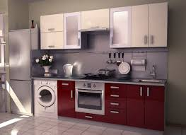 modular kitchen colors: small red modular kitchen interior designs kbhomes home inspirational pinterest home interior design white kitchen cabinets and red and white
