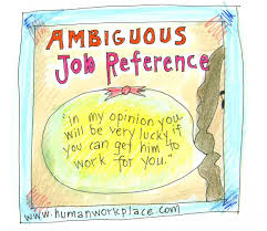 job references can be sticky business