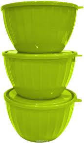 "Набор <b>салатников</b> Giaretti ""Fiesta"", с крышками, цвет: оливковый ..."