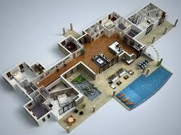 Modern House Floor Plans Modern D Floor Plans  modern floor plans