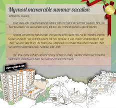my most memorable summer vacation by gyeong  monol international  ewc gyeong