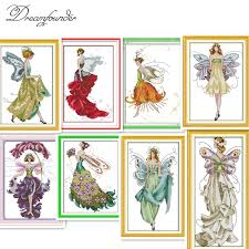 Aliexpress.com : Buy <b>Flower fairy</b> cross stitch kit <b>beauty</b> women <b>girl</b> ...