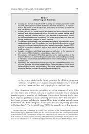 title x goals priorities and accomplishments a review of the page 77