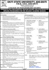 admission into professional masters degree and postgraduate admission into professional masters degree and postgraduate diploma programmes for the 2016 2017 academic session