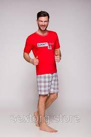 <b>Мужская красная пижама szymon</b> с короткими шортами Taro 9s ...