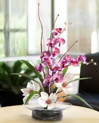 day orchid decor: magnolias amp orchids silk flower arrangement