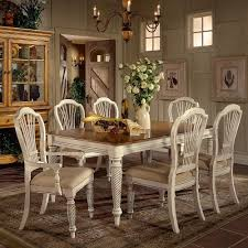 hillsdale wilshire oval dining wilshire wood rectangle dining table w  leaves in antique white by hil