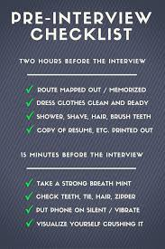 job interview tips for winners pre interview checklist steven fies pre interview checklist