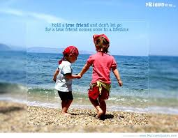 Friendship Quotes: The Two Kids Play Together In The Sea Sands The ... via Relatably.com