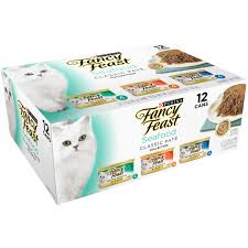 inspired kitchen cdab white brown: purina fancy feast classic seafood feast collection cat food   oz cans