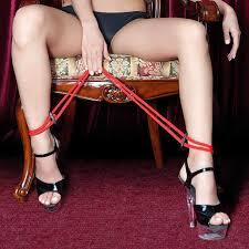 Оковы на ноги <b>Theatre веревочные</b>, красные 702005 купить в ...
