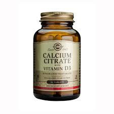 <b>Solgar Calcium Citrate with</b> Vitamin D3 - 60's | Health food store online