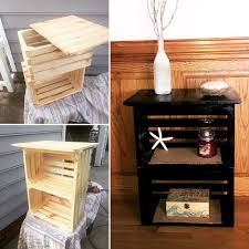 ideas bedside tables pinterest night: diy crate nightstand   diy crate nightstand