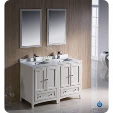 traditional style antique white bathroom: fvn aw fresca oxford  in antique white traditional double sink bathroom vanity