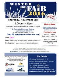 trainings and winter job fair from the workforce center winter 2016 job seeker flyer final 2