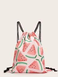 <b>Fruit</b> Print <b>Drawstring Backpack</b> | ROMWE