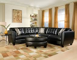 getting the elegant style with leather living room sectionals awesome living room design with black black leather living room