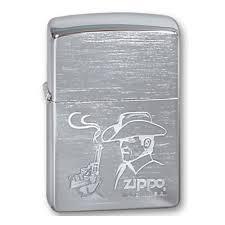 <b>Зажигалка</b> ZIPPO <b>Cowboy</b> Brushed Chrome, серебистая, матовая ...