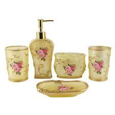 hand bathroom soap dish accessories hand craft pcs bathroom accessories set floral resin soap dish bath to