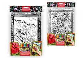<b>Раскраска Danko Toys 3D</b> Арт Рельефная Суперкар и Лев и 6 ...