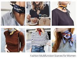 Fashion Scarves For Women Print <b>Silk Satin Head Scarf</b> Female ...
