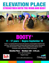 tara blog i am very excited to be starting a youth girls bootyreg class this fall at elevation place i believe that this program has the ability to build confidence