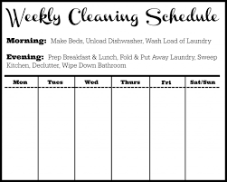 cleaning schedule template tips southern savers horizontal cleaning schedule
