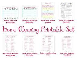 cleaning schedule cleaning schedule printable set keep your house clean