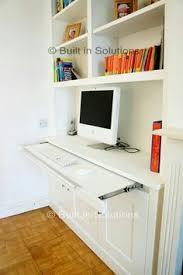 computer desk nook hidden
