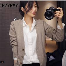 <b>HZYRMY Spring</b> New Women's Cashmere Sweater Casual Solid ...