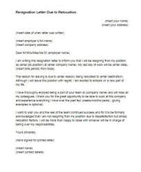 resignation letter due to relocation sample   just letter templatesletter of resignation because of relocation
