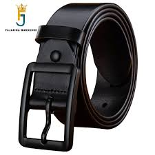 <b>FAJARINA Top Quality 100</b>% Pure Genuine Leather Retro Black ...