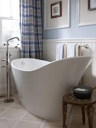 benefits soaking tubs  modern blue and white bathroom with slipper bathtub japanese small so
