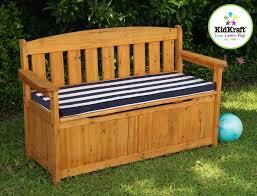 ideas deck storage bench furniture decorative outdoor storage bench seat with blue white stripe
