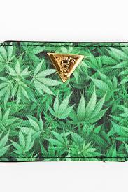 <b>Кошелек CAYLER & SONS</b> Kush Wallet (Green Leaves/Brown ...