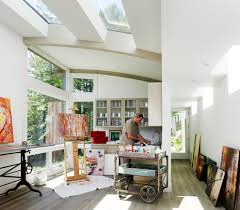 natural lighting home office contemporary image ideas with glass front cabinets glass front cabinets natural lighting home office