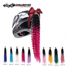 Punk Style <b>Motorcycle</b> Gradient Ramp <b>Helmet</b> Braids Women ...