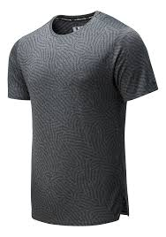 Mens New Balance <b>Q Speed Jacquard</b> Short Sleeve Technical Tops ...