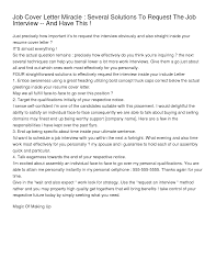 job interview cover letter tk job interview cover letter