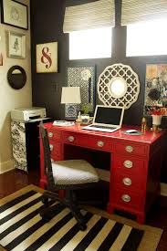 perfect for the desk dr j is giving me not the color though red desk diy pottery barn home office ideas rug is from pottery barn and the striped burnt red home office