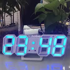 New <b>3D LED Digital Electronic</b> Clock Digital LED Table Desk Night ...