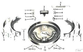 willys jeep parts diagrams illustrations from midwest jeep willys brakes cj3b m38a1 cj5