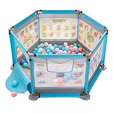 PNFP Playard for <b>Boy</b>/<b>Girl</b> with Balls and Mat, Nursery Play <b>Yard</b> ...