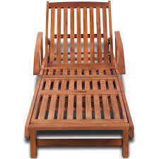 Sol 72 Outdoor <b>Sun Lounger Solid Acacia</b> Wood | Wayfair.co.uk