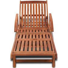 Sol 72 Outdoor <b>Sun Lounger Solid Acacia</b> Wood | Wayfair.co.uk