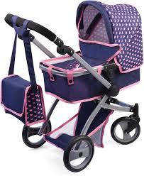 <b>Bayer</b> Design <b>Коляска для кукол</b> Neo Pro цвет синий розовый ...