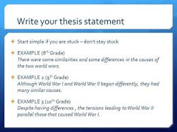 thesis statement for essay